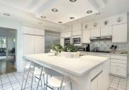 Bílá trendy kuchyně